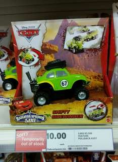 Pullback Disney Cars figure says £10 scanned at £5 @ tesco Chelmsford in store
