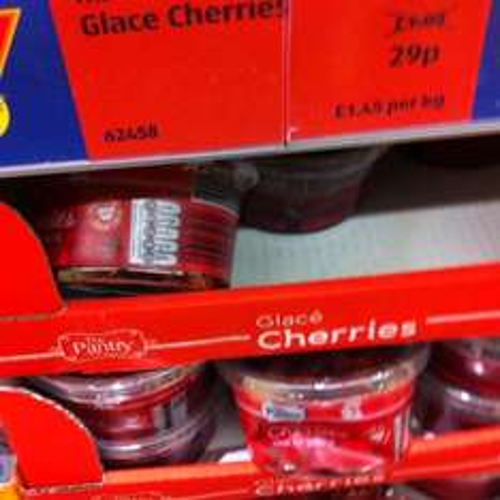 Glace cherries 29p @ Aldi