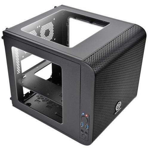 Thermaltake Core V1 Mini-ITX Cube Case Front 20cm Fan, 2 x USB3, Side Window £36.52 @ ebuyer (please watch video - link in comments)
