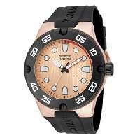 Invicta Rose Gold Plated Stainless Steel Case and Black Silicon Strap £52 @ Amazon