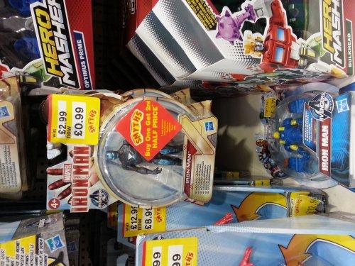 Iron Man figure x 2 for £1.49 @ smyths toys