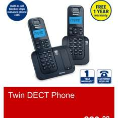 Twin DECT Phone £29.99 @ Aldi from 4/01/15