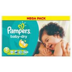 Pampers baby dry nappies size 3 ASDA 2 for £20