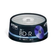 TDK T78301 25GB 4x Recordable BD-R - Cakebox 25 Pack £13.44 Sold by Blank-Discs-Com SuperSaver and Fulfilled by Amazon.