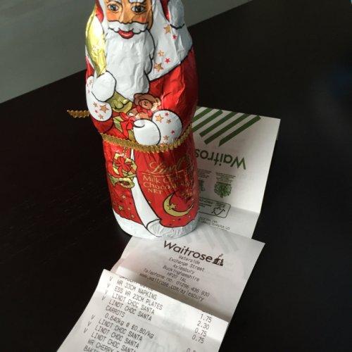 Lindt Chocolate Santa 75p @ Waitrose