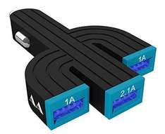 Saguaro 3-Port 4.1A USB Car Charger (iPad compatible) half price with voucher, £5 Sold by Avantek and delivered by Amazon  (free delivery £10 spend/prime)