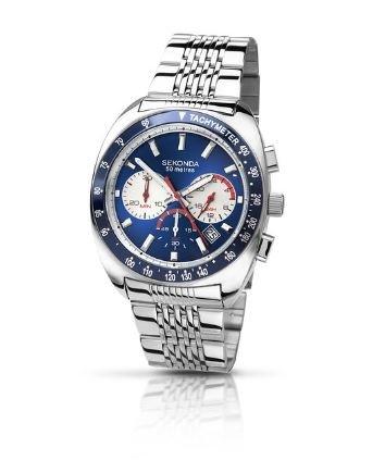 Sekonda Men's Quartz Watch with Blue Dial Chronograph Display £27.99 @ Amazon