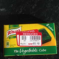 Knorr vegetable cubes x8 reduced to £0.19p @ Waitrose
