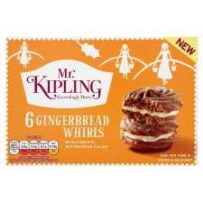 Mr. KIpling 6 Gingerbread Whirls  30p @ Sainsbury's