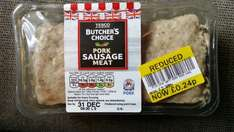 sausage meat @ Tesco was £2.39 now £0.24