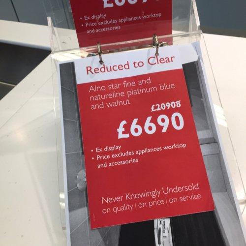 £14,000 saving on John Lewis ex-display kitchen!!  £6690 instore