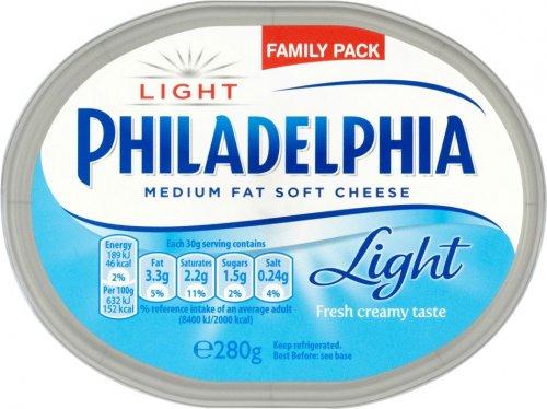 Philadelphia Original Soft Cheese or Light Soft Cheese (280g) was £2.50 now £1.25 @ Sainsbury's