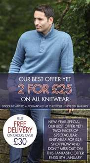 Charles Wilson - All Premium Knitwear 2 for £25+£4.95 shipping, free delivery on orders over £30