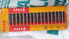 Kodak heavy duty batteries 16 pack AA £1 @ poundland