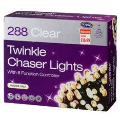 288 clear twinkle indoor Xmas lights half price £9.99 at B&M