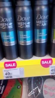 Dove Men + Care Clean Comfort /Extra Fresh 48h Anti -Perspirant Deodorant 150ml now 49p @ Superdrug