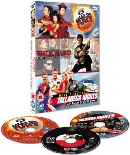 Balls Of Fury/Walk Hard/Talladega Nights triple pack DVD £3.99 delivered @ Zavvi.com