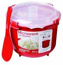 Sistema 2. 6 Litre Red Microwaveable Rice Steamer £8.00 at ASDA