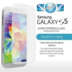 100% GENUINE PREMIUM TEMPERED GLASS FILM SCREEN PROTECTOR FOR SAMSUNG GALAXY S5 £1.79 @ ebay /  circuit_planet