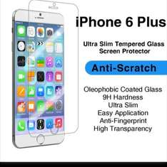 Premium Quality Tempered Glass iPhone 6 Plus - Anti-Scratch Screen Protector 99p @ Gizzmo Heaven / ebay