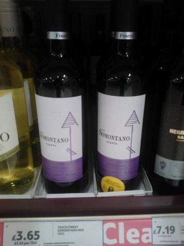 Finest Somontano Spanish Red £3.65 @ Tesco instore