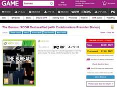 Xbox 360 - The Bureau: XCOM Declassified (with Codebreakers Preorder Bonus) Is Only £2 @ Game.co.uk