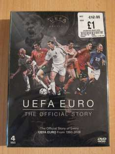 UEFA EURO - The Official Story 4 DVD Boxset - New Sealed Was £12.99 Now Only £1.00  @ HMV