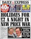 £5 off £25 voucher for Debenhams in todays 40p Daily Express (P4MP on line code gives 10%mov)