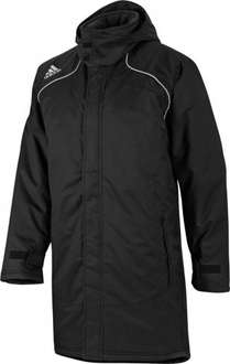 Adidas Mens 3 Stripe Padded Manager Coat 2 Black/Silver £27.98 inc @ M&M Direct