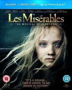 Les Misérables (Blu-ray + Digital Copy + UV Copy) [2012] @ Amazon £5  (free delivery £10 spend/prime)