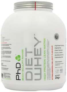 PHD Diet Whey Chocolate or Strawberry 2kg or 1kg @ Amazon - £27.54