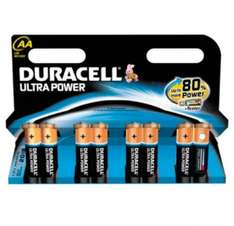 Duracell AA 8-Pack Batteries ultra power £8 Scanning at BOGOF @ Tesco
