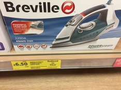 Breville 2200w Steam Iron £6.50 @ Tesco