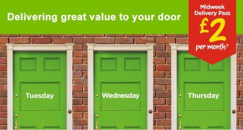 Asda Midweek grocery Pass £2.00 per month (£24)