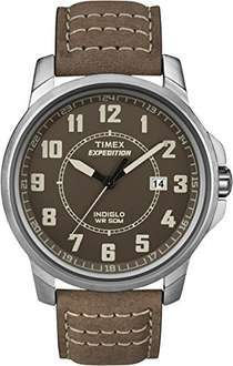 Timex Expedition Men's Quartz Watch with Brown Leather Strap - £25.19 @ Amazon