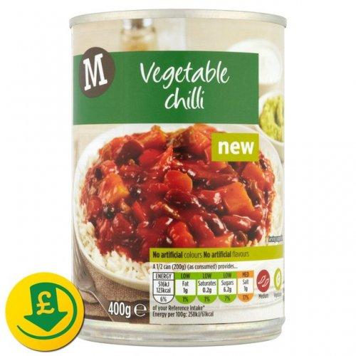Morrisons 400g Tin of Vegetable Chilli 50p @ Morrisons