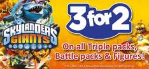 3 for two on £4.99 skylanders giants @ smyths toys