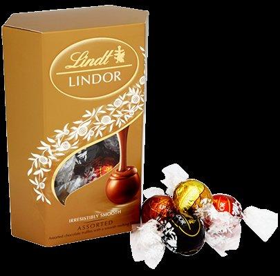 200g box assorted Lindt box  just £1 at Asda