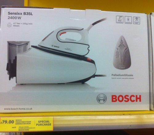 Bosch Sensixx B35L Steam Iron £79.00 @ Tesco instore