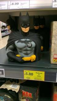 Batman 3D Bust Money Bank - Now £5 @ Tesco instore (£10 on tesco direct and £17.99 @ Amazon)