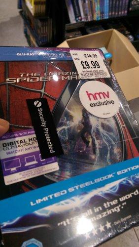 Amazing spiderm-man 2 HMV exclusive steelbook £9.99 instore