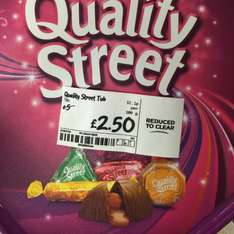 Quality Street for £2.50 @ Asda in store at St Mathew Walsall