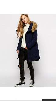 Asos 'Noisy May' Navy Parker Was £50 now £20 delivered