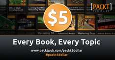 Until the 6th all Packt Publishing eBooks are available for just $5 each £3.60 (including VAT)