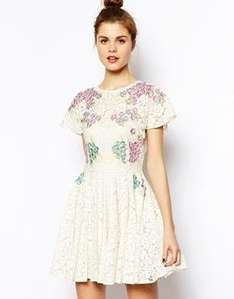 Asos embroidered dress WAS £65 now £25.00 @ Asos