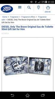 Diesel for men - only the brave £26.33 @ Boots