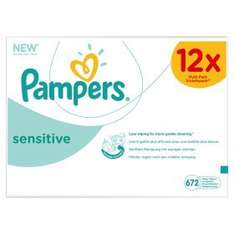 pampers sensitive wipes 12 pack only £7.97 @ asda