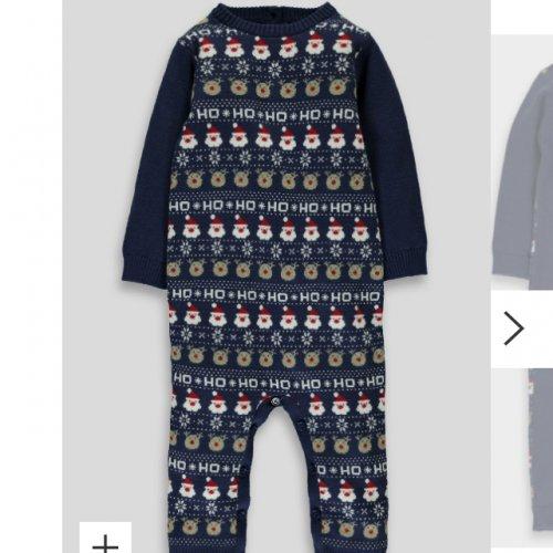 Matalan boys knitted Xmas romper £2