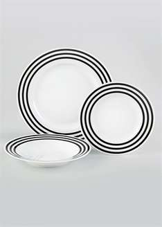 12 piece dinner set @ matalan £6.00 delivery to store free