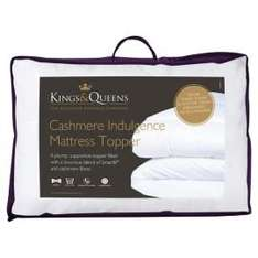 Kings & Queens Cashmere Indulgence Mattress Toppers From £15.90 @ Tesco Direct